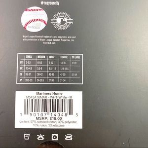 Stance Underwear & Socks - Stance MLB Seattle Mariners Home Crew Socks 6-8.5
